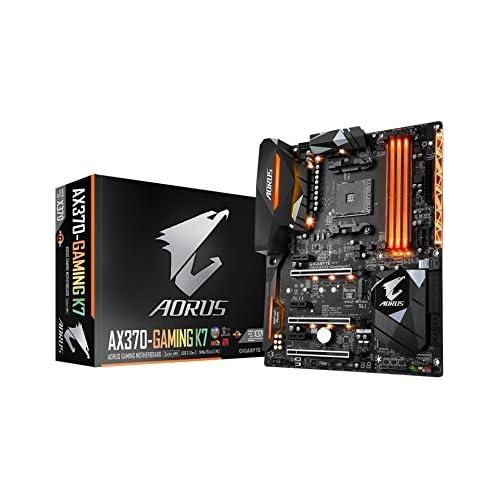 chollos oferta descuentos barato Gigabyte GA AX370 GAMING K7 AMD X370 Socket AM4 ATX Placa Base DDR4 SDRAM DIMM 2133 2400 2933 3200 3400 3600 MHz Dual 64 GB AMD