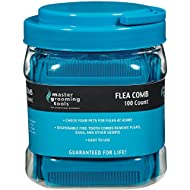 Master Grooming Tools Flea Comb Canisters — Effective Flea Combs for Grooming Dogs, 100-Count Canister