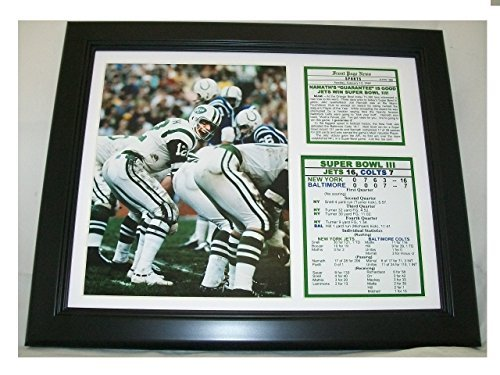 - 11x14 1969 Super Bowl III New York Jets vs Baltimore Colts Joe Namath 8X10 PHOTO The Guarantee