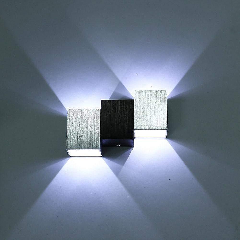6-F-up down luci a parete fuoco moderna dell'alluminio, la parete interna della illuminazione nella Casa Bianca di raffreddonnato per corridoio Lounge Camere Camere Bagno piano stanza dei ba