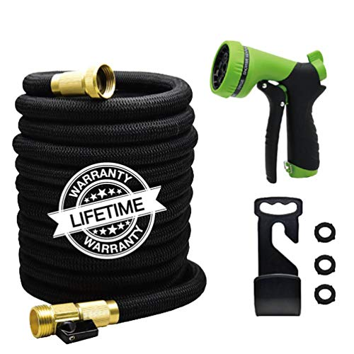 JARDTEC 50ft Expanding Garden Hose – Leakproof Lightweight Flexible Water Hose