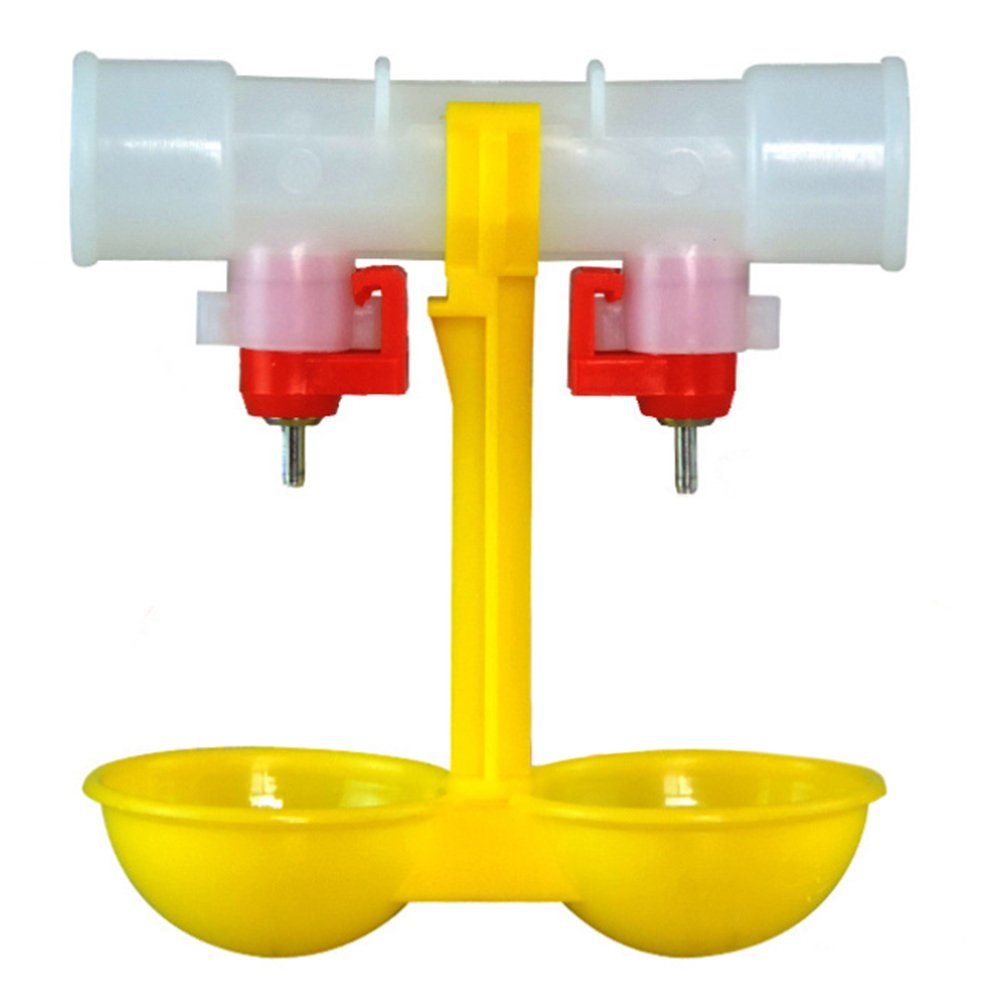Double Nipple Chicken Cup Waterer Automatic Drinker Steel Ball RongZhan