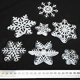 BinaryABC Christmas Snowflake Window Clings