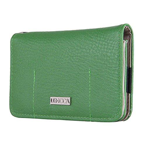 Lencca Kymira - GEM SAGE Flip Vegan Leather Wallet Case Cover fits Apple iPhone 6 , 5s , 5c , 5 4G LTE
