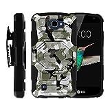 LG K4 Case, Optimus Zone 3, Spree, LG Rebel [Armor Reloaded] Full Body Rugged Shell Armor Shell Belt Holster Clip Case by Miniturtle - Swamp Camouflage