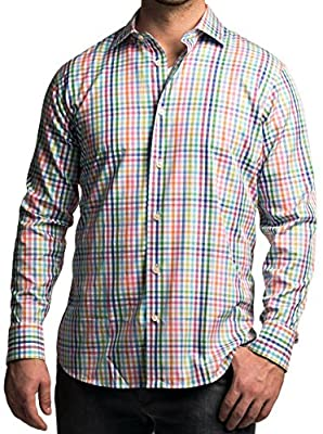 Robert Talbott Crespi III Trim Fit Long Sleeve Check Sport Shirt