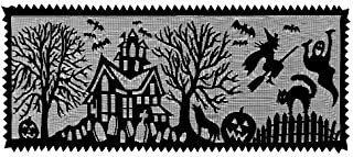 product image for Heritage Lace Spooky Hollow 14-Inch by 40-Inch Runner, Black