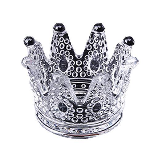YONGMEI Cenicero - Crystal Crown Cenicero de Cristal Candelabro romántico Cenicero Creativo Decoración de Oficina...
