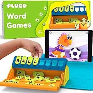 Plugo Letters by PlayShifu - Word Building with Phonics, Stories, Puzzles | 5-10 years Educational STEM Toy | Interactive Vocabulary Games | Boys & Girls Gift (App Based)