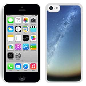 NEW Unique Custom Designed iPhone 5C Phone Case With Milky Way Galaxy Rising_White Phone Case