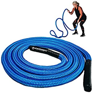Well-Being-Matters 51yMYtAogbL._SS300_ Hyperwear Hyper Rope Battle Rope, Patent Pending Flexible Metal Core Cardio Strength Rope, Full Home Gym Workout in only…