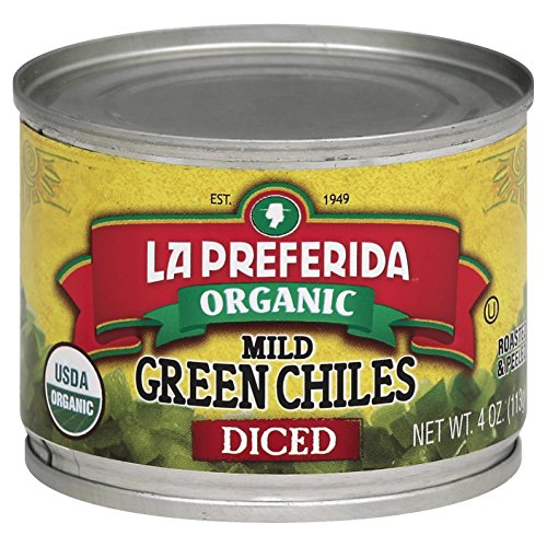 La Preferida Diced Green Mild Chiles, 4-Ounce (Pack of 12)