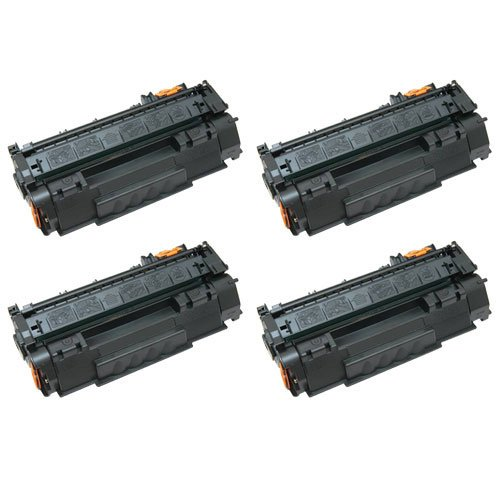 Image of Amsahr 113R00726 Xerox 113R00726, 6180DN Remanufactured Replacement Toner Cartridge with Four Black Cartridges Laser Printer Drums & Toner