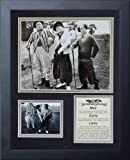 Legends Never Die Three Stooges Golf Black White Framed Photo Collage, 11 by 14-Inch