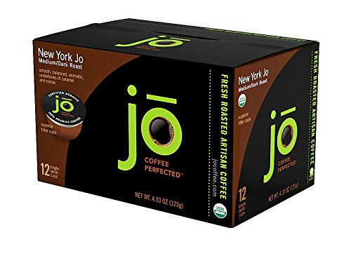 New York Jo  12 Cup Organic Medium Dark Roast Single Serve Coffee For Keurig K Cup Brewers  Keurig 1 0   2 0 Eco Friendly Cup  Our Most Popular Signature Blend  No Additives  Non Gmo