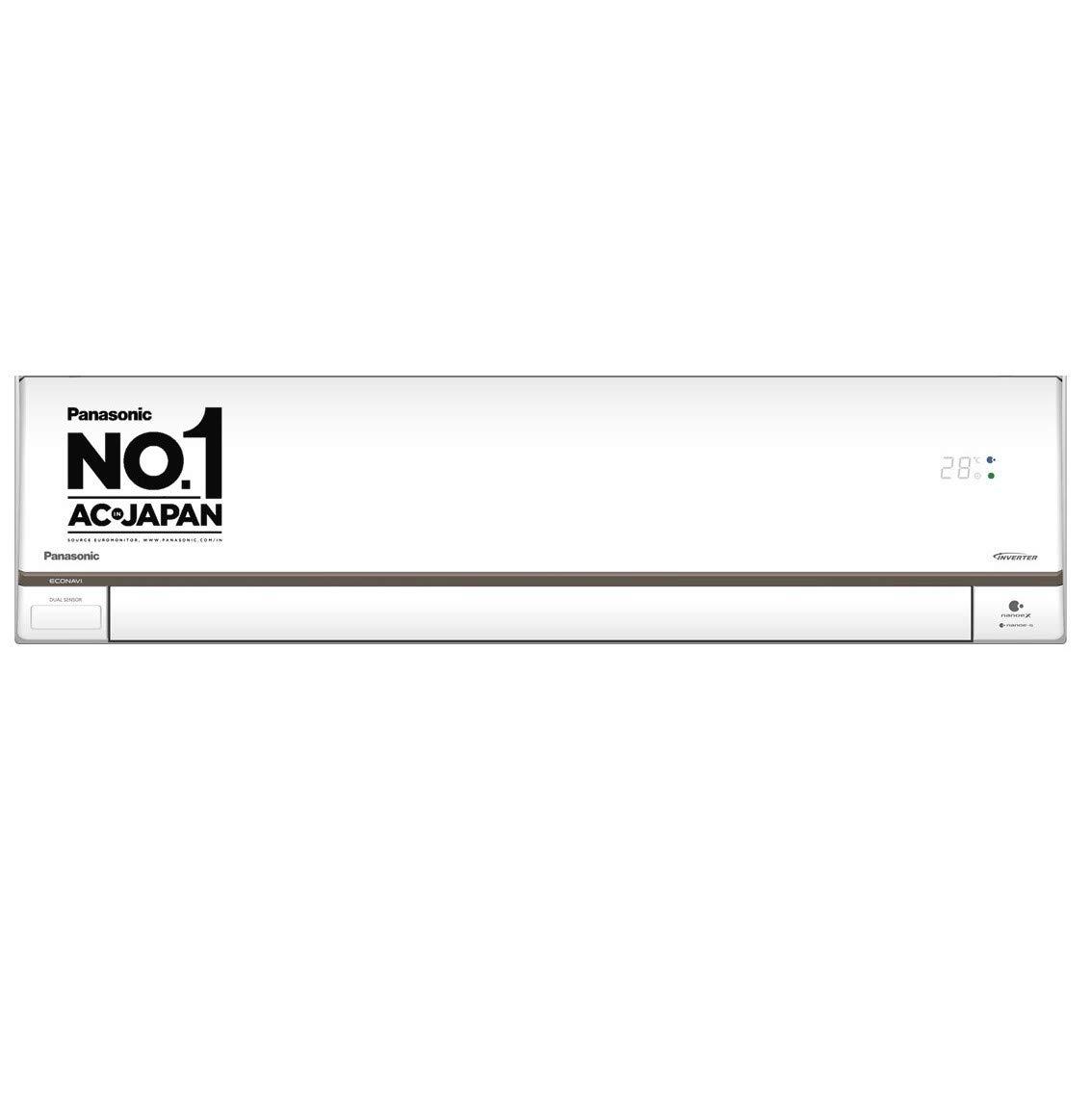 Panasonic 1 Ton 5 Star Wi-Fi Inverter Split AC (Copper, Nanoe-X Air Purification, 2021 Model, CS/CU-HU12XKYF, White)