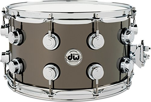 DW Collector's Series Metal Snare Drum 14 x 8 in. Black Nickel Over Brass with Chrome Hardware (Dw 14x8 Snare Drum)