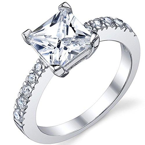 Princess Zirconia Sterling Engagement Wedding product image