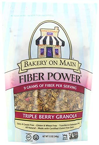 (Bakery On Main Fiber Power Gluten Free Non-GMO Granola, Triple Berry, 12-Ounce (Pack of 3))