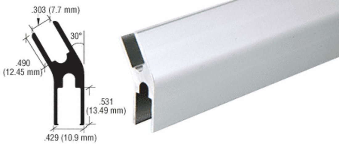 CRL Satin Anodized Aluminum 30 Degree Slant H-Bar