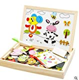 Mayatra's Educational Learning Wooden Animal Magnetic Puzzle With Board Game