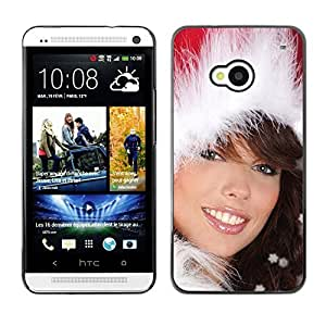 YOYO Slim PC / Aluminium Case Cover Armor Shell Portection //Christmas Holiday Sexy Hot Girl Woman 1020 //HTC One M7