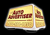 Lighted Car Top Sign - Auto Advertiser - Includes Custom Decals offers