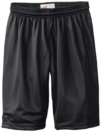 Soffe Big Boys' 7 Inch Poly Mini Mesh Short, Black, X-Small