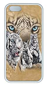 Find 12 Tigers TPU Case Cover for iPhone 5 and iPhone 5s White