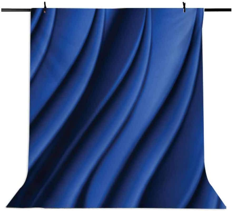 Navy Blue 10x15 FT Backdrop Photographers,Ocean Waves Inspired Design with Digital Reflection Aqua Sea Abstract Artwork Background for Baby Birthday Party Wedding Vinyl Studio Props Photography