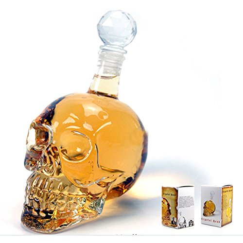 Hot sale Crystal Head Vodka Small Bottle Skull Face Bone Glass Decanter Empty - Proof 80 Rum