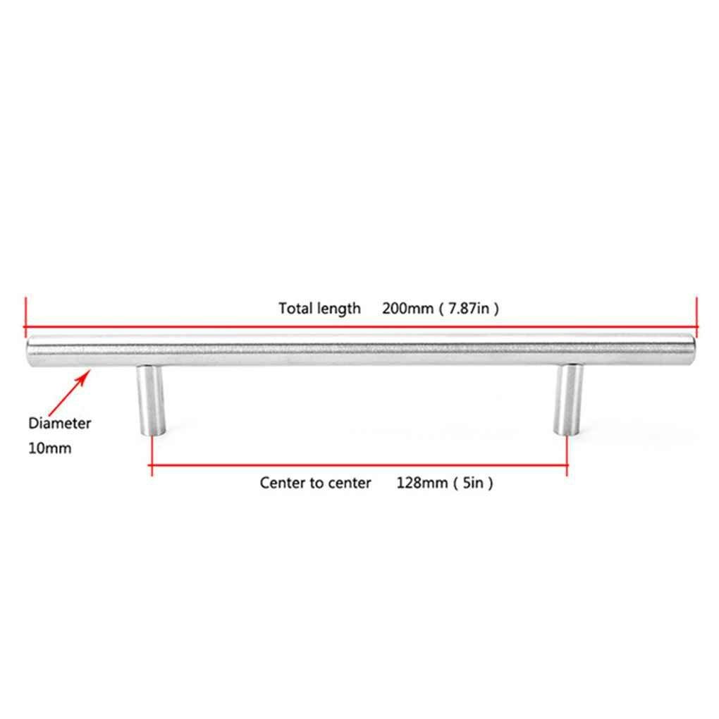LUFA Diameter 10mm Stainless Steel Kitchen Door Cabinet T Bar Handle Pull Knob Handle Grip