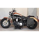 Sacoche cavalière. Sacoche Harley Davidson sportster. La sacoche s'adapte à tous les modèles de moto Harley Davidson Sportster SuperLow, Iron 883, 1200 Custom, Forty-Eight, Seventy-Two, SuperLow 1200T. La sacoche adhère à la moto grâce à la présence d'une cavité pour l'amortisseur. Dimensions: L.41/30cm - H.39cm - P.18cm. Au moment de l'achat indiquer le modèle et l'année de fabrication de la moto.
