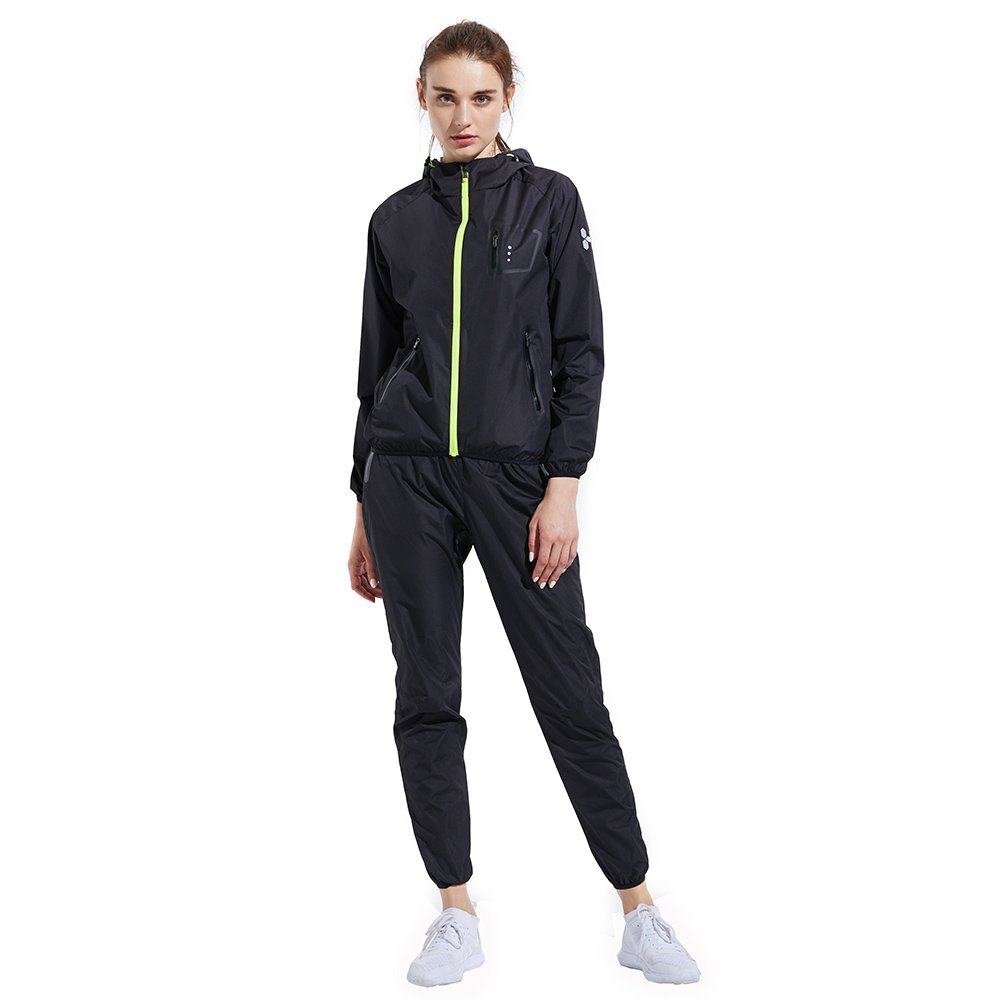 HOTSUIT Sauna Suit Weight Loss for Women Slim Fitness Clothes (Black,XX-Large) by HOTSUIT (Image #2)