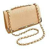 SHUhua PU Leather Handbag Chain Shoulder Bag Tote Purse Bag
