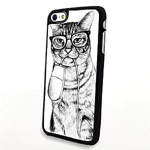 Generic Phone Accessories Matte Hard Plastic Phone Cases Cartoon Animal Cat fit for Iphone 6 Plus