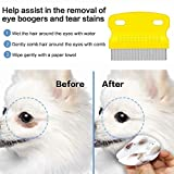 Aoche Pet Comb Dog Eye Comb for Tear Stains, Flea