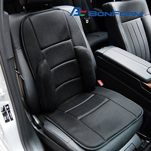 Bonform Japan 5811 07 Car Sedan SUV RV Truck Jeep Mesh Memory Foam Seat Airy Cushion Pad Cover Black Universal Combo