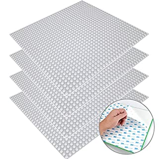 """CLOURF Peel-and-Stick Baseplates 10"""" x 10"""" in Variety Color - Compatible with All Major Brands (4 Gray)"""