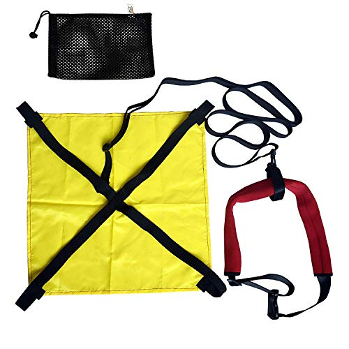YYST Swimming Resist Parachute Drag Trainer Belt Tow Tether Training Leash
