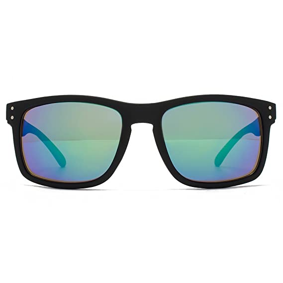 MUK - Gafas de sol - para hombre Blue Green Mirror: Amazon ...