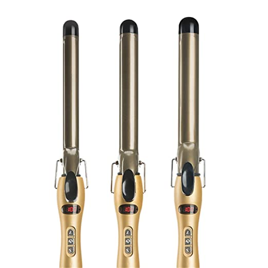 Amazon.com: Rizador Pelo Ceramic Curling Iron Digital Hair Curlers Styler Heating Styling Tools Eu Plug Wand Irons 32mm: Beauty