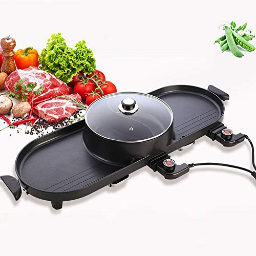 (ZLKB The Electric BBQ Grill and Hot Pot,Electric Hot Pot Electric Grill Thai Barbecue,Korean BBQ Hot Pot Electric)