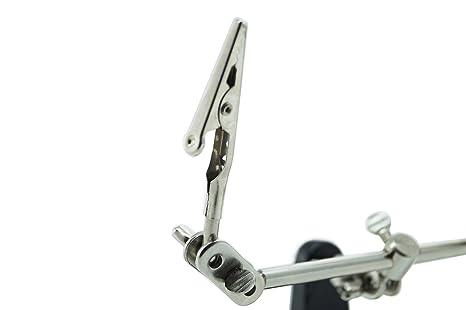 Tercera mano con soporte para soldador, 2 y lupa con pinzas regulables: Amazon.es: Electrónica