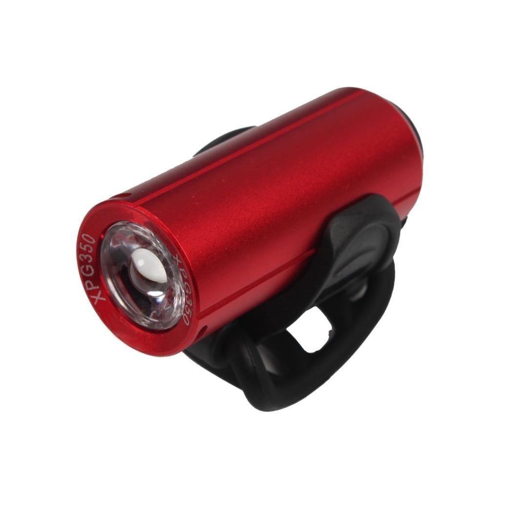 Enjocho Bike Light, USB Rechargeable LED Bike Bicycle Cycling Front Light Headlihgt Lamp Torch Bike Accessories (Red)