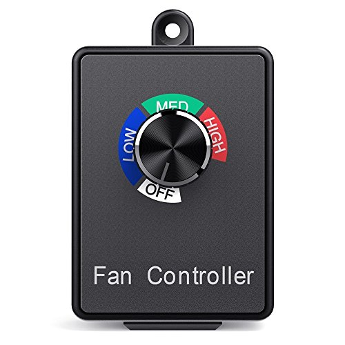 Hon&Guan Fan Speed Controller, Variable Dial Router Centrifugal Inline Duct Exhaust Fan Speed Controller by Hon&Guan