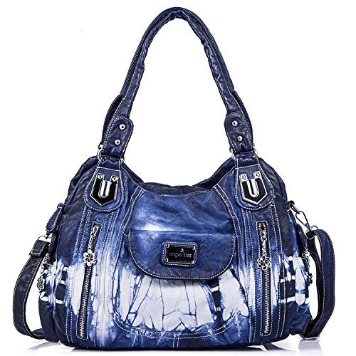 Ak812 Skin Kiss Blu donna 2z Borse Angel Wash HpXFw