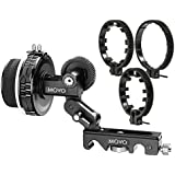 Movo F2X Precision Follow Focus System with Hard Stops & 66mm, 77mm & 88mm Adjustable Gear Rings