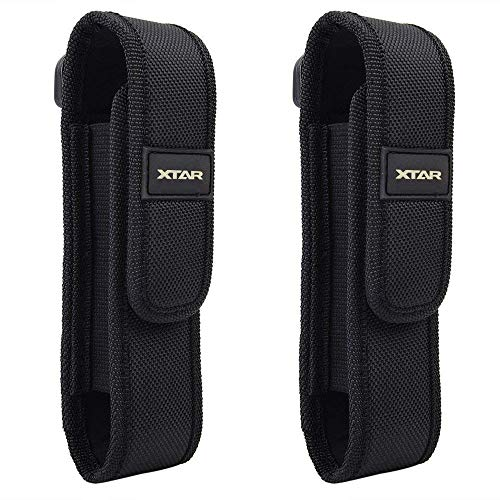 XTAR 2-Pack Flashlight Battery Pouch Holster Holder for 6.5