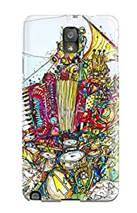 Galaxy Note 3 Case, Premium Protective Case With Awesome Look - Music Art